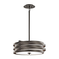 Kichler 43301OZ Roswell 3 Light 18 inch Olde Bronze Pendant Ceiling Light