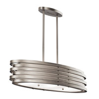 Kichler 43303NI Roswell 3 Light 12 inch Brushed Nickel Pendant Ceiling Light
