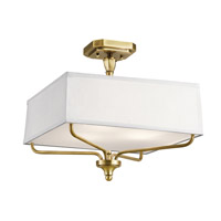 Arlo 3 Light 15 inch Natural Brass Semi Flush Mount Ceiling Light