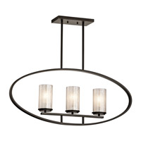 Kichler 43318OZ Berra 3 Light 4 inch Olde Bronze Chandelier Linear (Single) Ceiling Light