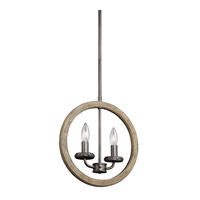 Kichler Evan 2 Light Pendalette in Distressed Antique Gray 43328DAG