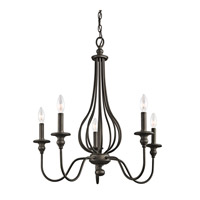 Kichler 43330OZ Kensington 5 Light 25 inch Olde Bronze Chandelier Ceiling Light