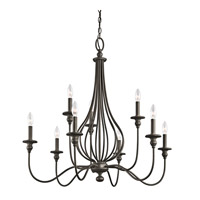 Kichler 43331OZ Kensington 9 Light 34 inch Olde Bronze Chandelier Ceiling Light