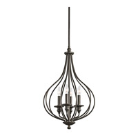Kichler 43332OZ Kensington 4 Light 16 inch Olde Bronze Foyer Pendant Ceiling Light
