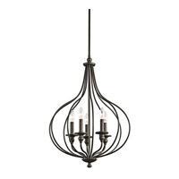 Kichler Lighting Kensington 5 Light Foyer Pendant in Olde Bronze 43335OZ photo thumbnail