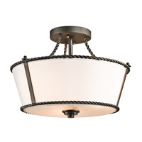 Kichler Lighting Donington 3 Light Semi-Flush in Olde Bronze 43342OZ photo thumbnail