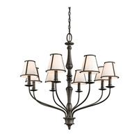 Kichler 43344OZ Donington 8 Light 34 inch Olde Bronze Chandelier Ceiling Light