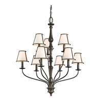 Kichler 43345OZ Donington 9 Light 34 inch Olde Bronze Chandelier Ceiling Light