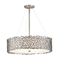 Silver Coral 4 Light 22 inch Classic Pewter Chandelier Ceiling Light
