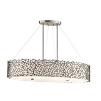 Silver Coral 4 Light 16 inch Classic Pewter Chandelier Ceiling Light