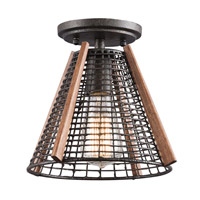 Kichler Calleis 1 Light Pendant Convertible Semi-Flush in Rust 43351RT