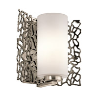 Kichler Silver Coral 1 Light Wall Sconce in Classic Pewter 43353CLP