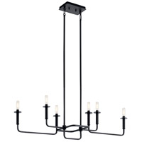 Kichler 43362BK Alden 6 Light 11 inch Black Chandelier Ceiling Light