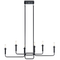 Kichler 43362BK Alden 6 Light 11 inch Black Chandelier Linear (Single) Ceiling Light alternative photo thumbnail