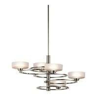 Kichler Aleeka 5 Light Chandelier 1 Tier Medium in Classic Pewter 43365CLP