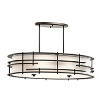 Kichler 43370OZ Tremba 6 Light 20 inch Olde Bronze Chandelier Oval Pendant Ceiling Light