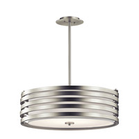 Kichler 43390NI Roswell 4 Light 24 inch Brushed Nickel Pendant Ceiling Light