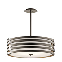 Kichler 43390OZ Roswell 4 Light 24 inch Olde Bronze Pendant Ceiling Light