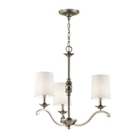Kichler 43391AP Versailles 3 Light 23 inch Antique Pewter Chandelier Ceiling Light Small