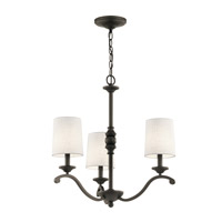 Kichler 43391OZ Versailles 3 Light 23 inch Olde Bronze Chandelier Ceiling Light, Small