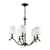 Kichler 43392OZ Versailles 5 Light 26 inch Olde Bronze Chandelier Ceiling Light, Medium