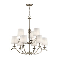 Versailles 9 Light 30 inch Antique Pewter Chandelier Ceiling Light