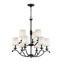 Kichler 43393OZ Versailles 9 Light 30 inch Olde Bronze Chandelier Ceiling Light