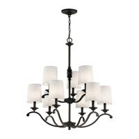 Kichler 43393OZ Versailles 9 Light 30 inch Olde Bronze Chandelier Ceiling Light