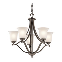Kichler Lighting Wellington Square 5 Light Chandelier in Olde Bronze 43401OZ photo thumbnail