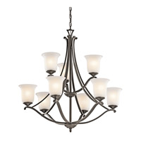 Kichler Lighting Wellington Square 9 Light Chandelier in Olde Bronze 43402OZ photo thumbnail