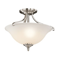 Kichler Lighting Wellington Square 2 Light Semi-Flush in Classic Pewter 43406CLP photo thumbnail
