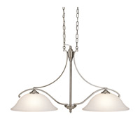 Kichler Lighting Wellington Square 2 Light Island Light in Classic Pewter 43407CLP