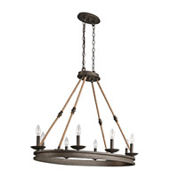 Kichler Kearn 8 Light Chandelier 1 Tier Small in Olde Bronze 43422OZ