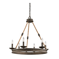 Kichler 43423OZ Kearn 6 Light 25 inch Olde Bronze Chandelier 1 Tier Medium Ceiling Light