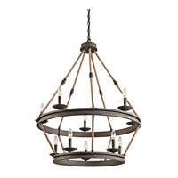 Kichler 43424OZ Kearn 10 Light 34 inch Olde Bronze Chandelier 2 Tier Ceiling Light