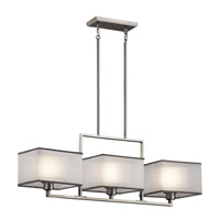 Kichler 43437NI Kailey 3 Light 9 inch Brushed Nickel Chandelier Linear (Single) Ceiling Light