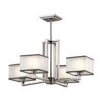Kichler Kailey 4 Light Chandelier 1 Tier Medium in Brushed Nickel 43438NI