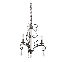 Kichler Marcele 3 Light Mini Chandelier in Olde Bronze 43447OZ