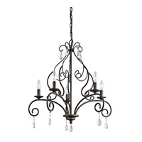 Kichler Marcele 5 Light Chandelier 1 Tier Medium in Olde Bronze 43448OZ