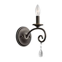 Kichler 43450OZ Marcele 1 Light 5 inch Olde Bronze Wall Bracket Wall Light