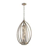 Savanna 4 Light 19 inch Sterling Gold Foyer Pendant Ceiling Light