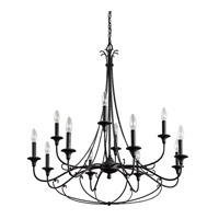 Kichler Basel 12 Light Chandelier 2 Tier in Distressed Black 43455DBK