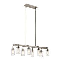 Kichler 43457CLP Braelyn 8 Light 42 inch Classic Pewter Linear Chandelier Ceiling Light, Double