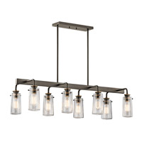 Kichler 43457OZ Braelyn 8 Light 15 inch Olde Bronze Chandelier Linear (Double) Ceiling Light photo thumbnail