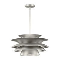 Kichler Novara 1 Light Pendant in Brushed Nickel 43459NI