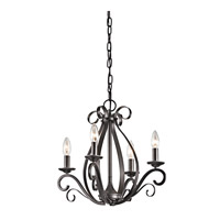 Kichler Kambry 4 Light Mini Chandelier in Smokey Gray 43462SMG photo thumbnail