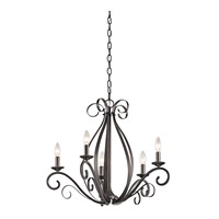 Kichler Kambry 5 Light Chandelier 1 Tier Medium in Smokey Gray 43463SMG