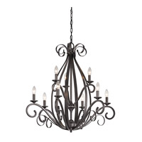 Kichler Kambry 9 Light Chandelier 2 Tier in Smokey Gray 43465SMG