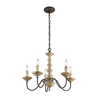 Kichler Briellis 5 Light Chandelier in Vintage Weathered White 43471VWW