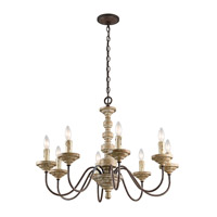 Kichler Briellis 8 Light Chandelier in Vintage Weathered White 43472VWW